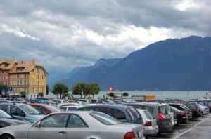 Vevey in the back drop of Lac Léman