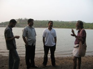 Rajesh(L), the youngster who convinced the Gandian to work with the students.