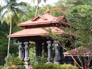 The 'Mandapam' in Thunjan Parambu where the author was initiated into learning in 1976