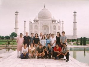 Travellers in Agra with Sandeep Sinha (L - standing)