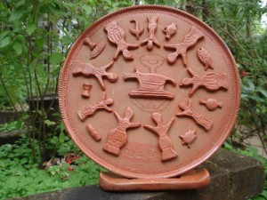 Pic: Memento created by one of our artisans depicting the universal theme of eco-history of communities